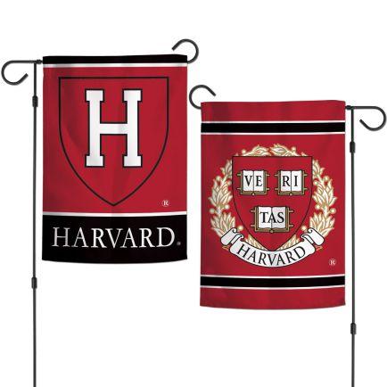 "Harvard Crimson Garden Flags 2 sided 12.5"" x 18"""