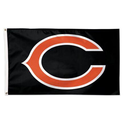 Chicago Bears Black background Flag - Deluxe 3' X 5'