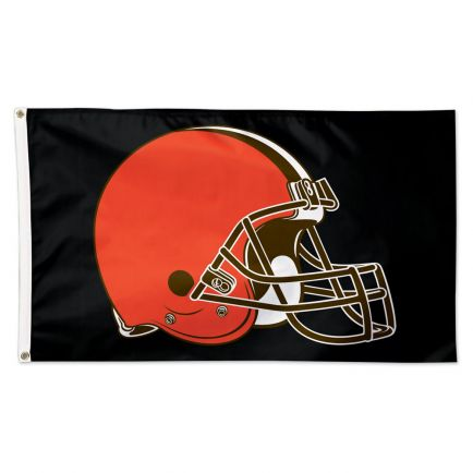 Cleveland Browns Black background Flag - Deluxe 3' X 5'