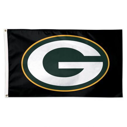 Green Bay Packers Black background Flag - Deluxe 3' X 5'