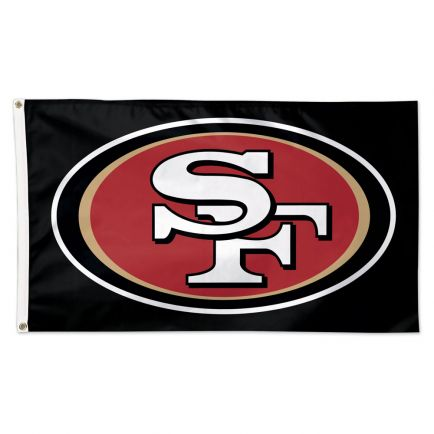 San Francisco 49ers Black background Flag - Deluxe 3' X 5'