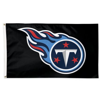 Tennessee Titans Black background Flag - Deluxe 3' X 5'