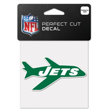 """New York Jets / Classic Logo Retro Perfect Cut Color Decal 4"""" x 4"""""""