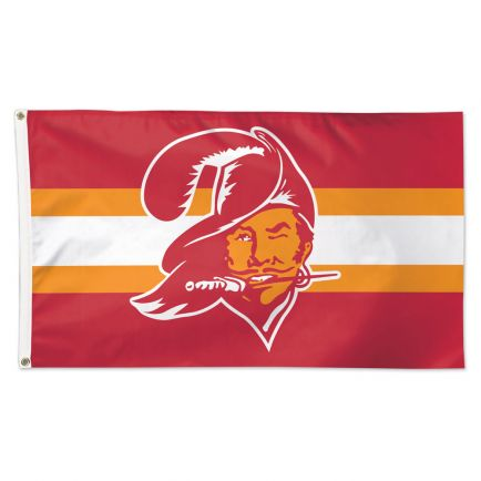 Tampa Bay Buccaneers / Classic Logo Retro Flag - Deluxe 3' X 5'