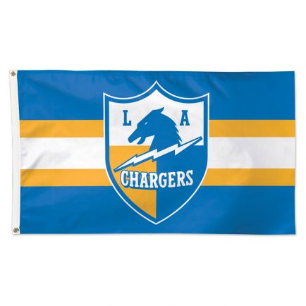 Los Angeles Chargers / Classic Logo Retro Flag - Deluxe 3' X 5'