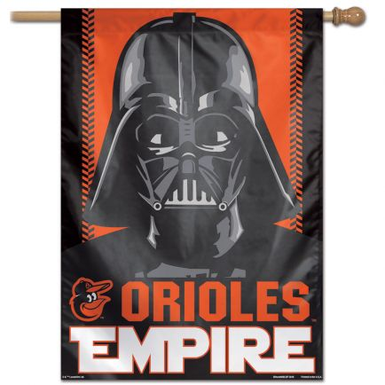 "Baltimore Orioles / Star Wars Star Wars Vertical Flag 28"" x 40"""