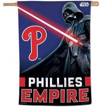 "Philadelphia Phillies / Star Wars Darth Vader Vertical Flag 28"" x 40"""