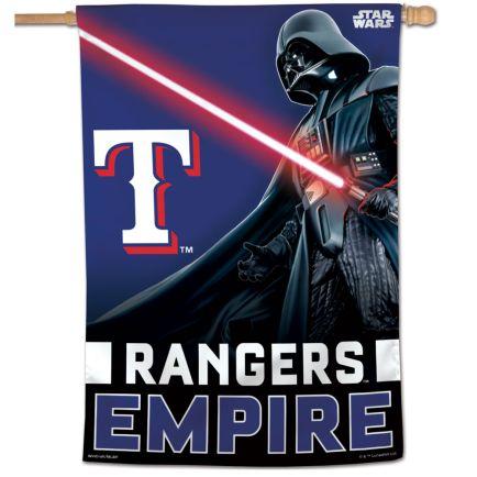 "Texas Rangers / Star Wars vader Vertical Flag 28"" x 40"""