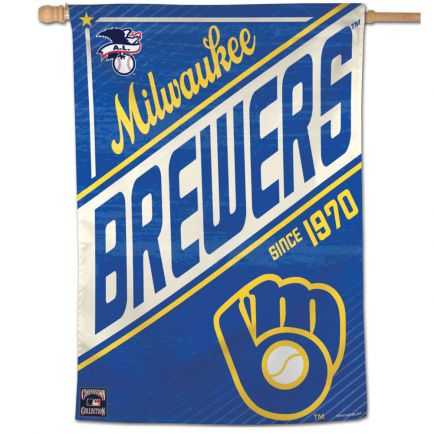 "Milwaukee Brewers / Cooperstown Vertical Flag 28"" x 40"""