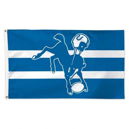 Indianapolis Colts / Classic Logo Retro Flag - Deluxe 3' X 5'