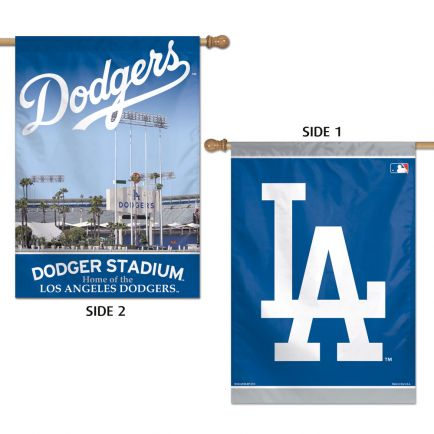 "Los Angeles Dodgers Vertical Flag 2 Sided 28"" x 40"""