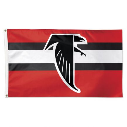 Atlanta Falcons / Classic Logo Retro Flag - Deluxe 3' X 5'