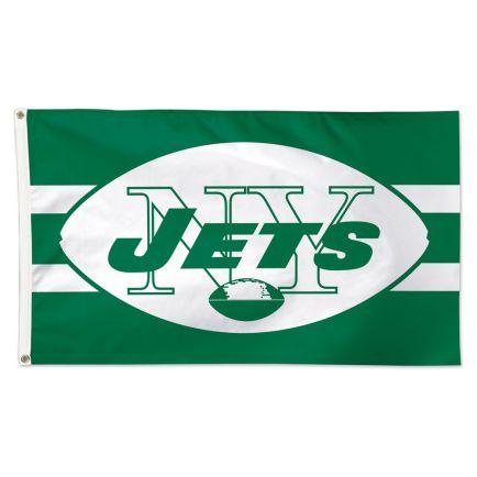 New York Jets / Classic Logo Retro Flag - Deluxe 3' X 5'
