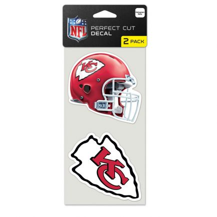 """Kansas City Chiefs Perfect Cut Decal set of two 4""""x4"""""""