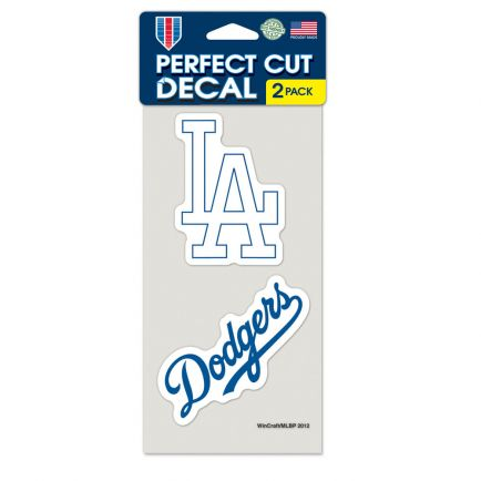 """Los Angeles Dodgers Perfect Cut Decal set of two 4""""x4"""""""