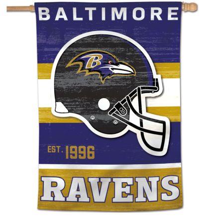 "Baltimore Ravens / Classic Logo Retro Vertical Flag 28"" x 40"""