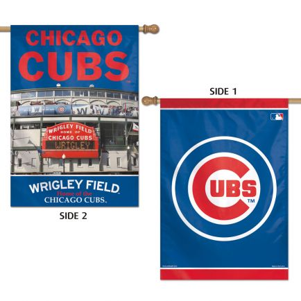"Chicago Cubs Vertical Flag 2 Sided 28"" x 40"""