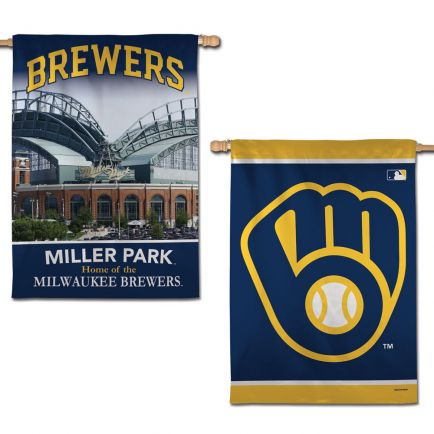 "Milwaukee Brewers Vertical Flag 2 Sided 28"" x 40"""