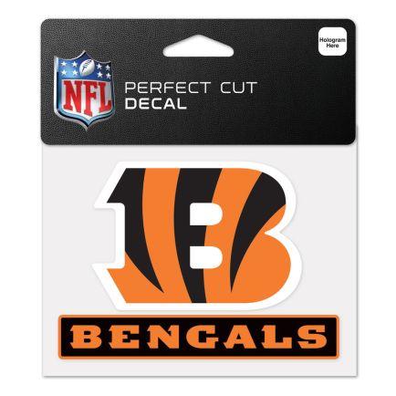 """Cincinnati Bengals Perfect Cut Color Decal 4.5"""" x 5.75"""""""