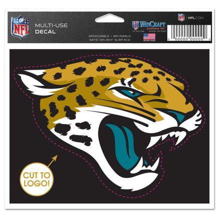 "Jacksonville Jaguars Multi-Use Decal - cut to logo 5"" x 6"""