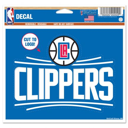 "Los Angeles Clippers Multi-Use Decal - cut to logo 5"" x 6"""