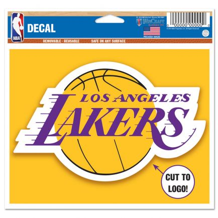 "Los Angeles Lakers Multi-Use Decal - cut to logo 5"" x 6"""