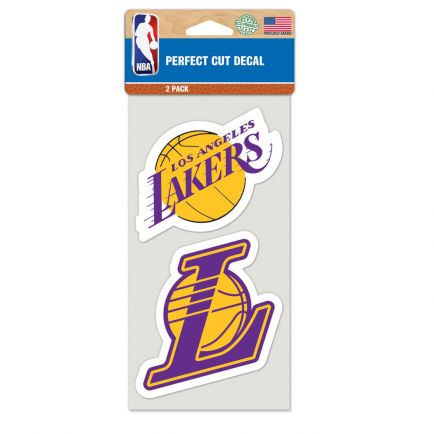 "Los Angeles Lakers Perfect Cut Decal set of two 4""x4"""