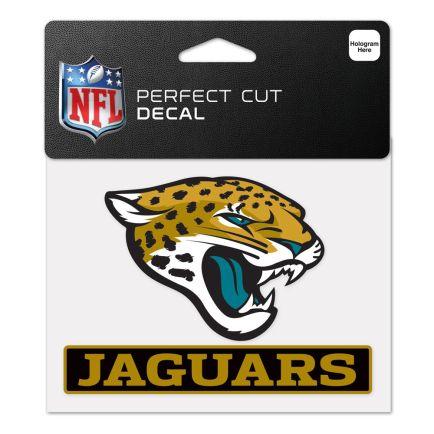 """Jacksonville Jaguars Perfect Cut Color Decal 4.5"""" x 5.75"""""""