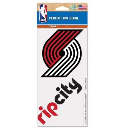 "Portland Trail Blazers Perfect Cut Decal set of two 4""x4"""