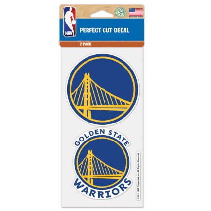 "Golden State Warriors Perfect Cut Decal Set of two 4""x4"""