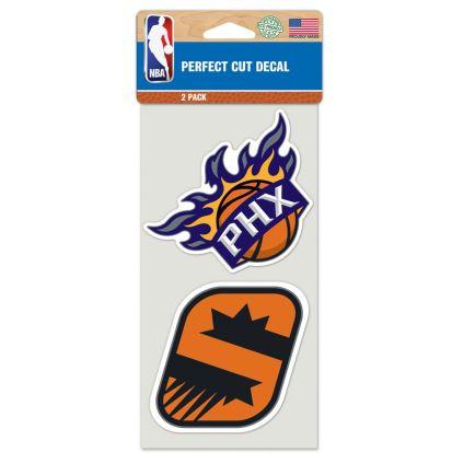 "Phoenix Suns Perfect Cut Decal set of two 4""x4"""