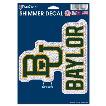 "Baylor Bears Shimmer Decals 5"" x 7"""