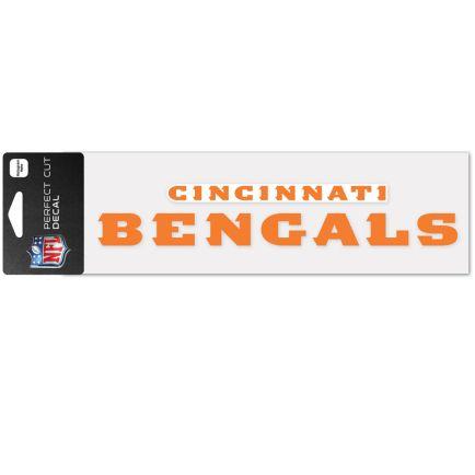 """Cincinnati Bengals Wordmark Design Perfect Cut Decals 3"""" x 10"""""""