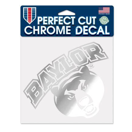 "Baylor Bears Chrome Perfect Cut Decal 6"" x 6"""