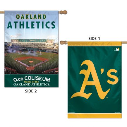 "Oakland A's Vertical Flag 2 Sided 28"" x 40"""