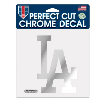 """Los Angeles Dodgers Chrome Perfect Cut Decal 6"""" x 6"""""""