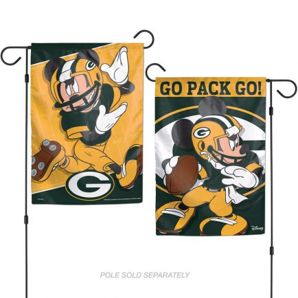 "Green Bay Packers / Disney Garden Flags 2 sided 12.5"" x 18"""