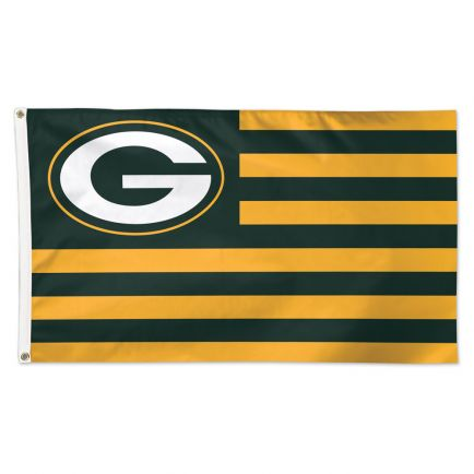 Green Bay Packers / Patriotic Americana Flag - Deluxe 3' X 5'