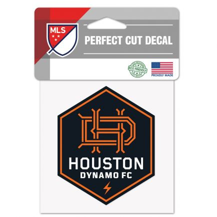 "Houston Dynamo Perfect Cut Color Decal 4"" x 4"""