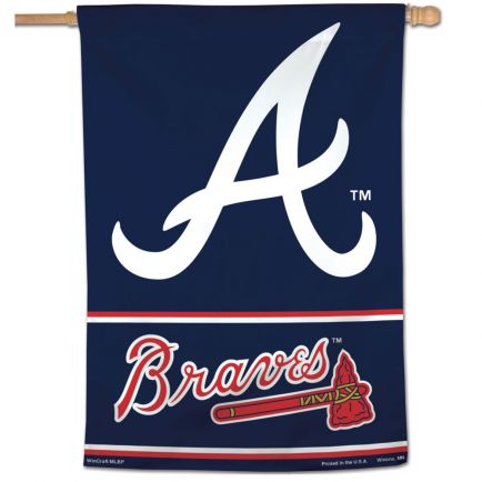"Atlanta Braves Wordmark Vertical Flag 28"" x 40"""