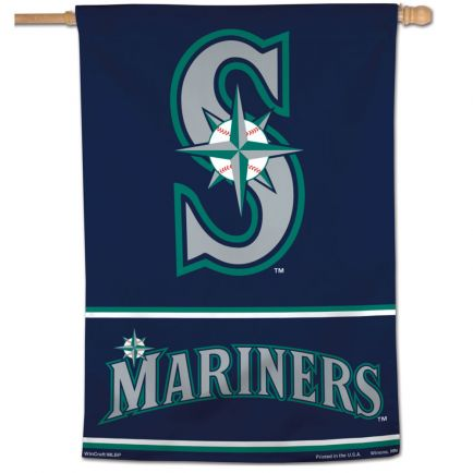 "Seattle Mariners Wordmark Vertical Flag 28"" x 40"""