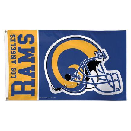 Los Angeles Rams / Classic Logo Retro Flag - Deluxe 3' X 5'