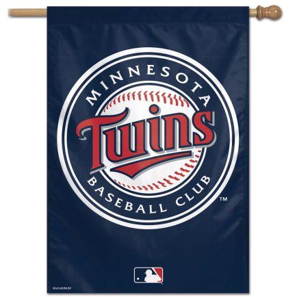 "Minnesota Twins Primary logo Vertical Flag 28"" x 40"""
