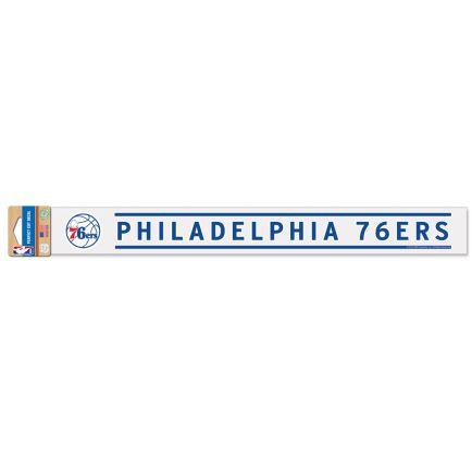"Philadelphia 76ers Perfect Cut Decals 2"" x 17"""
