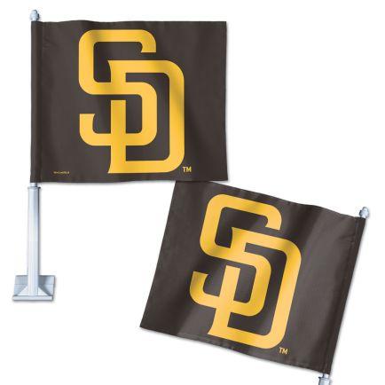 "San Diego Padres Car Flag 11.75"" x 14"""