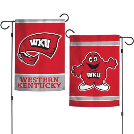 """Western Kentucky Hilltoppers Garden Flags 2 sided 12.5"""" x 18"""""""