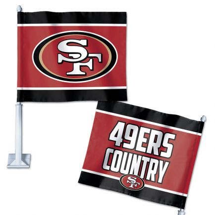 "San Francisco 49ers Slogan Car Flag 11.75"" x 14"""
