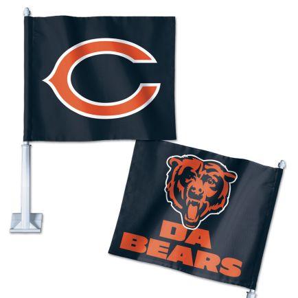 "Chicago Bears Slogan Car Flag 11.75"" x 14"""