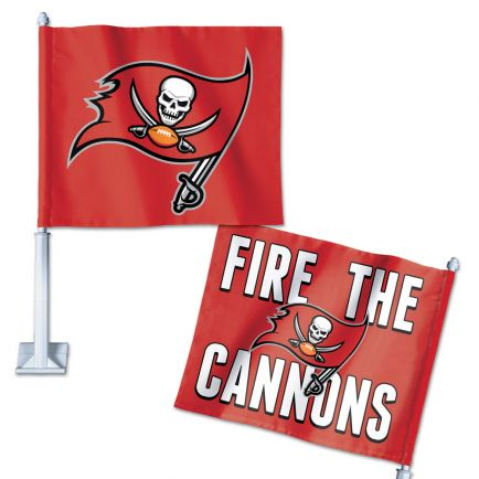 "Tampa Bay Buccaneers Slogan Car Flag 11.75"" x 14"""