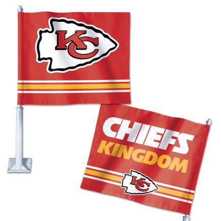 "Kansas City Chiefs Slogan Car Flag 11.75"" x 14"""